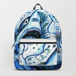 Hungry Shark Drawing Backpack