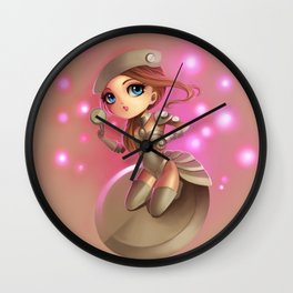 Button Girl  Wall Clock