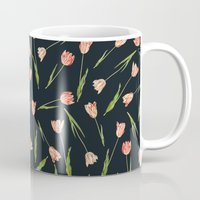 tulips Mugs featuring Tulips by Heart of Hearts Designs