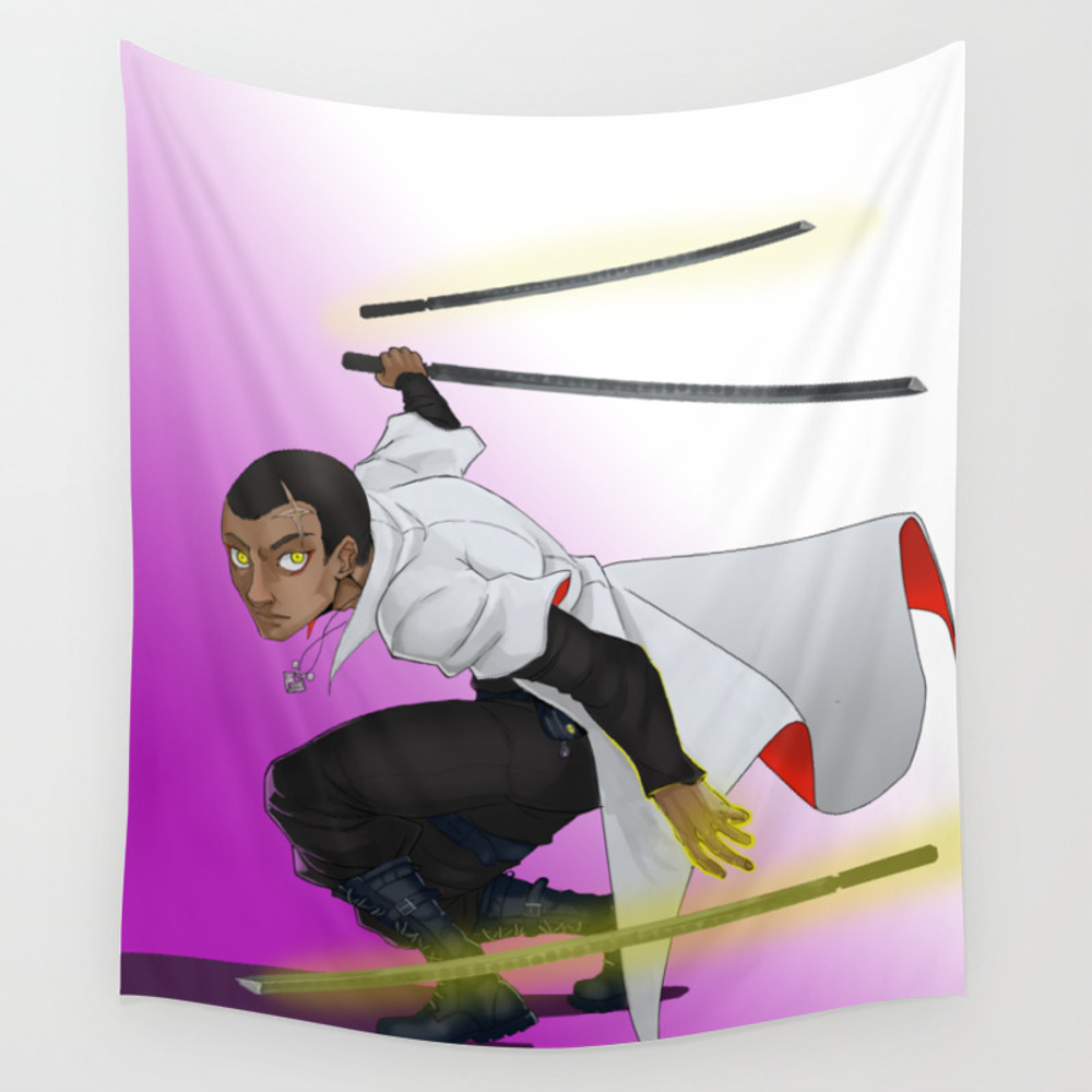 Master Of Blades Wall Tapestry by Rapshazel TPS8338826