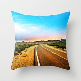 Open Road in Big Bend Throw Pillow