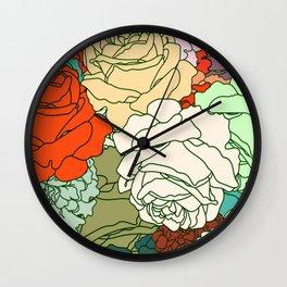 Tender Roses 2 Wall Clock