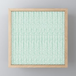 Knit Wave Mint Framed Mini Art Print