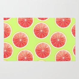 Pink Grapefruit Slices Pattern Rug
