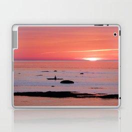 Kayaker and Bird at Last Light Laptop & iPad Skin