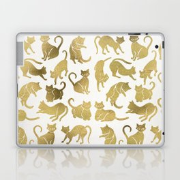 Cat Positions – Gold Palette Laptop & iPad Skin