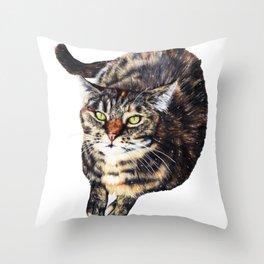 Kitty Cat Chili Throw Pillow