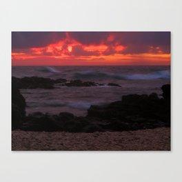 Sunset at Ka'ena Point Canvas Print