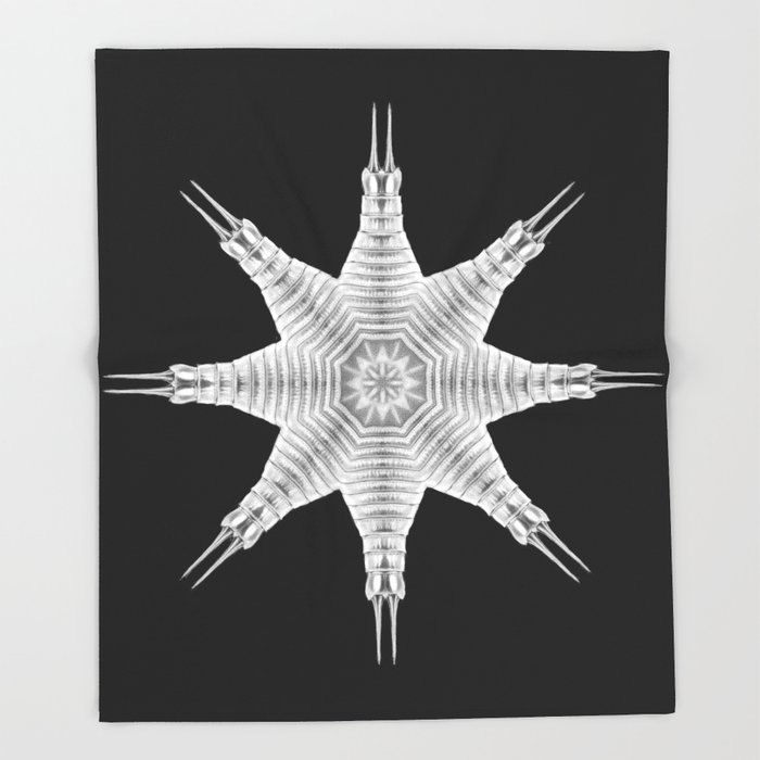 Ninja Star 9 Throw Blanket