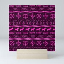 Scandinavian Christmas in Pink Mini Art Print
