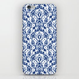 Blue and White Casbah Damask iPhone Skin