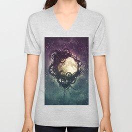 Clockwork Moon Unisex V-Neck