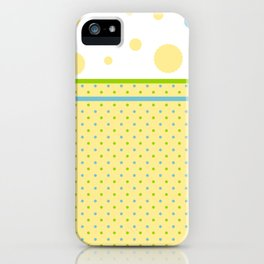 Yellow, With Dots iPhone Case