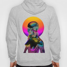 Android with a movie camera Hoody
