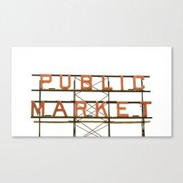 Pike Place Public Farmers Market - Sunrise Canvas Print