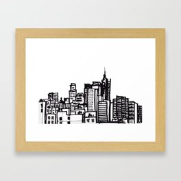 City Landscape monochromatic Framed Art Print