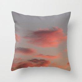 Pretty in Pink - Irish Midsummer Evening V Throw Pillow
