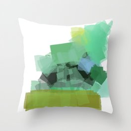 Ode to green 4 Throw Pillow