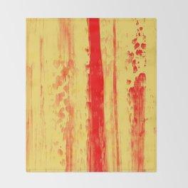 Gerhard Richter Inspired Abstract Urban Rain 3 Throw Blanket