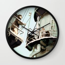 Oil Rig Chase Wall Clock