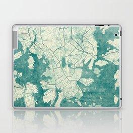 Helsinki Map Blue Vintage Laptop & iPad Skin