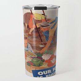 Vintage poster - Victory Garden Travel Mug