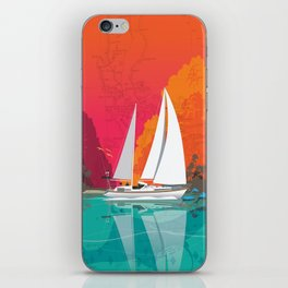 Sailing to Delos iPhone Skin