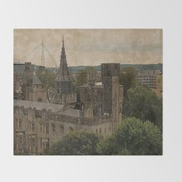 Cardiff Castle - Wales Throw Blanket
