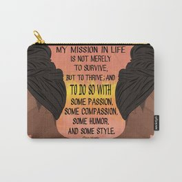 Serving, Ms. Angelou Carry-All Pouch