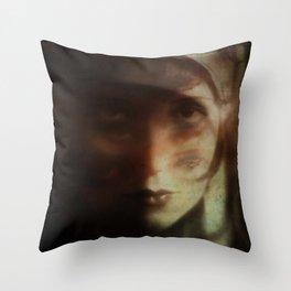 Clara, in Darkness Throw Pillow