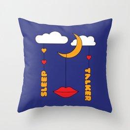 Sleep Talker Throw Pillow