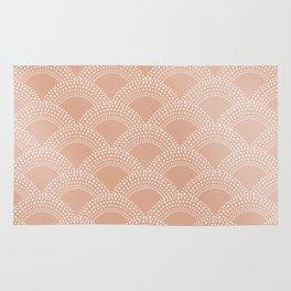 Elegant blush pink mermaid fish scale pattern Rug