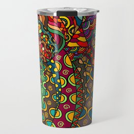 African Style No13, Tribal dance Travel Mug