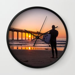 Scouting the Sunset Wall Clock