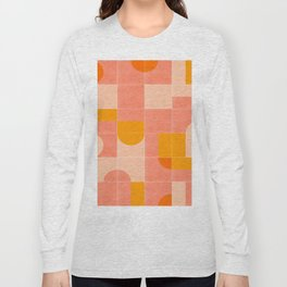 Retro Tiles 03 #society6 #pattern Long Sleeve T-shirt