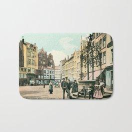 Antwerp Belgium city center restored view around 1900 Bath Mat