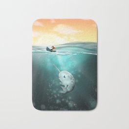 Narwhal meets Girl Bath Mat