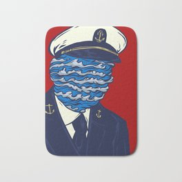 Captain of the Salty Waves Bath Mat