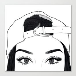 GIRL-FACE-DRAW Canvas Print