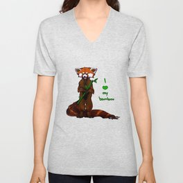 I love my bamboo (tablet) Unisex V-Neck