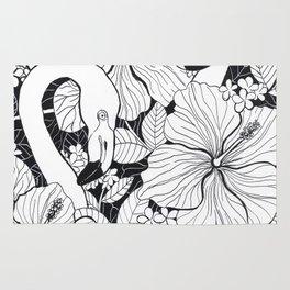 Flamingo garden Rug