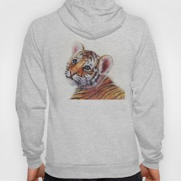 Tiger Cub Watercolor Hoody