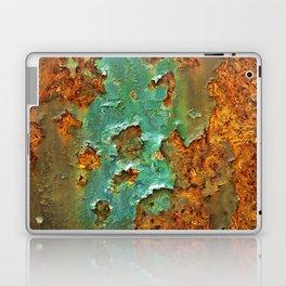 Rust and Deep Aqua Blue Abstract Laptop & iPad Skin