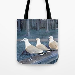 """Ducks"" in a row :) Tote Bag"