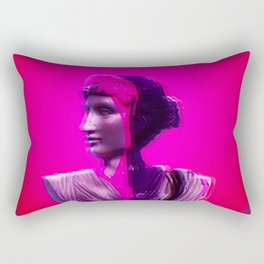 Vaporwave Glow Rectangular Pillow