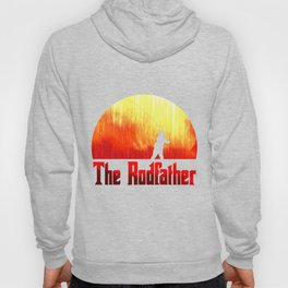 The Rodfather. Funny Fishing print for Fisherman Hoody