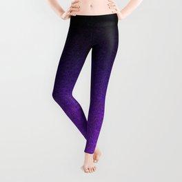Purple & Black Glitter Gradient Leggings