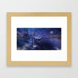midnight castle Framed Art Print