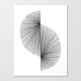 Mid Century Modern Geometric Abstract S Shape Line Drawing Pattern Canvas Print