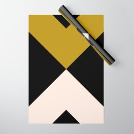 Minimal X Dark Olive Wrapping Paper